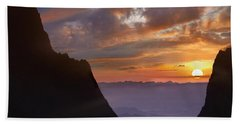 Beach Towel featuring the photograph The Window At Sunset Big Bend Np Texas by Tim Fitzharris