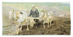 The Writer Lev Nikolaevich Tolstoy Beach Towel