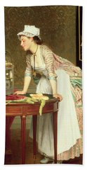 The Yellow Canaries Beach Towel by Joseph Caraud