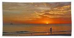 Beach Sheet featuring the photograph The Young Fisherman by HH Photography of Florida