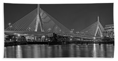 The Zakim Bridge Bw Beach Towel