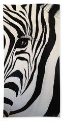 The Zebra With One Eye Beach Towel