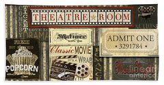 Theatre Room Beach Towel