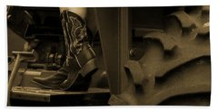 These Boots 1 Sepia Beach Towel