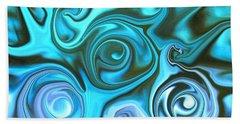 Turquoise Swirls Beach Sheet