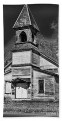 This Old Church In Black And White Beach Towel