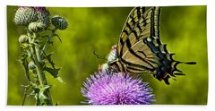 Beach Towel featuring the photograph Thistle Do Just Fine by Gary Holmes