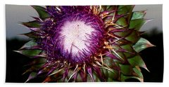 Thistle Night Beach Towel