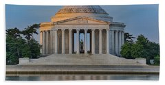 Beach Sheet featuring the photograph Thomas Jefferson Memorial At Sunrise by Sebastian Musial