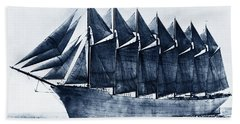 Thomas W. Lawson Seven-masted Schooner 1902 Beach Towel