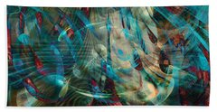 Thoughts In Motion Beach Towel by Linda Sannuti