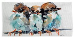 Three Birds Beach Towel