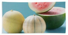 Three Different Melons Beach Towel