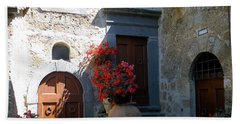 Three Doors In Bagnoregio Beach Towel
