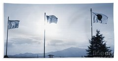 Three Flags Of Camp Zama 3 Beach Towel