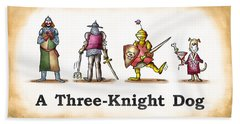 Three Knight Dog Beach Towel