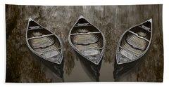 Three Old Canoes Beach Sheet