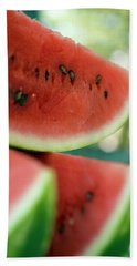 Three Slices Of Watermelon Beach Towel