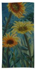 Three Sunflowers - Sold Beach Towel
