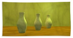 Beach Sheet featuring the digital art Three Vases II by Gabiw Art