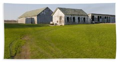 Three Weathered Farm Buildings Beach Sheet