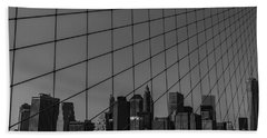 Through Brooklyn Bridge Beach Towel by Chris Fletcher
