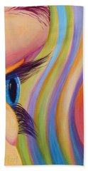 Beach Towel featuring the painting Through The Eyes Of A Child by Sandi Whetzel