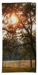 Through The Trees Beach Towel by Melanie Lankford Photography