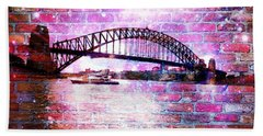 Beach Sheet featuring the photograph Sydney Harbour Through The Wall 1 by Leanne Seymour