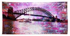 Sydney Harbour Through The Wall 1 Beach Sheet
