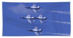 Thunderbirds Diamond Formation Topsides Beach Towel