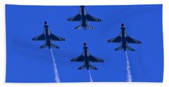 Thunderbirds Diamond Formation Undersides 2 Beach Towel