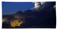 Beach Towel featuring the photograph Thunderstorm II by Greg Reed