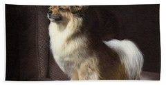 Tibetan Spaniel Painting Beach Towel