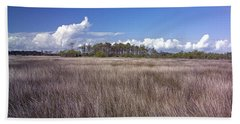Beach Towel featuring the photograph Tidal Marsh On Roanoke Island by Greg Reed