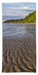 Beach Towel featuring the photograph Tidal Pattern In The Sand by Jeff Goulden