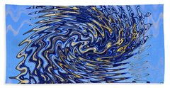 Beach Towel featuring the photograph Tidal Wave by Gary Holmes