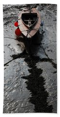 Beach Towel featuring the photograph Tide's Out 1 by Wendy Wilton