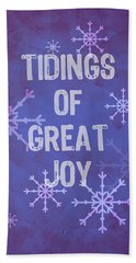 Tidings Of Great Joy Beach Sheet
