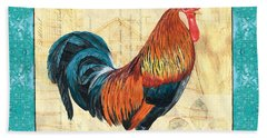 Tiffany Rooster 1 Beach Sheet by Debbie DeWitt