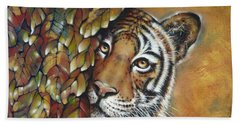 Tiger 300711 Beach Towel by Selena Boron