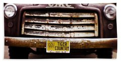Tiger Country - Purple And Old Beach Sheet by Scott Pellegrin
