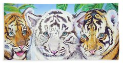 Tiger Cubs Beach Towel