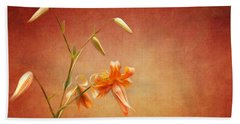 Tiger Lily Beach Towel by Lena Auxier