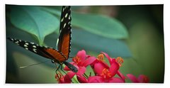 Tiger Longwing Butterfly Beach Towel