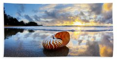 Tiger Nautilus Sunrise Beach Towel