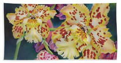 Tiger Orchid Beach Towel by Jane Girardot