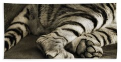 Tiger Paws Beach Towel by Dan Sproul