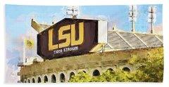 Tiger Stadium Beach Towel by Scott Pellegrin