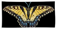 Tiger Swallowtail Butterfly Bedazzled Beach Towel
